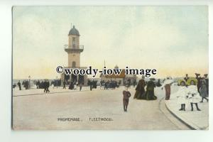 tp9644 - Lancs - The Promenade, by the Railway Station at Fleetwood - postcard