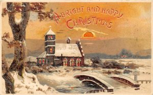 Happy Christmas Hold to Light 1907