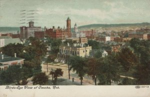 Bird's Eye View of Omaha, Nebraska Vintage Postcard