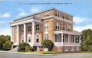 YMCA Hattiesburg Mississippi 1945 postcard