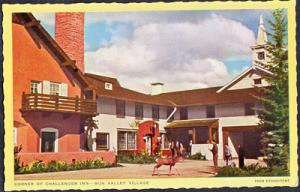 SUN VALLEY Idaho - CHALLENGER INN ... people and a deer at the corner 1940s