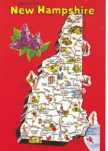 Map Of New Hampshire Greetings From
