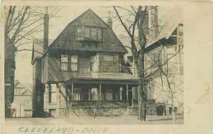 Cleveland Ohio Residence Home 1906 Postcard RPPC real photo 11600