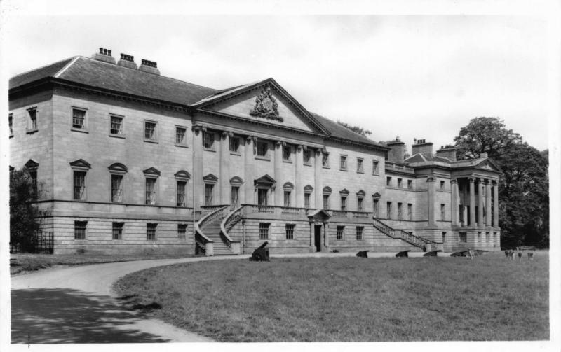Vintage REAL PHOTO B&W Postcard NOSTELL PRIORY West Yorkshire