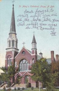 St Mary's cathedral , FARGO , North Dakota , PU-1908