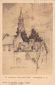 South Charleston Saint Michael's Over Roof Tops Albertype 1932
