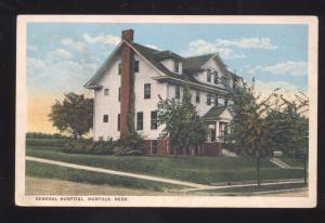 NORFOLK NEBRASKA GENERAL HOSPITAL BUILDING ANTIQUE VINTAGE POSTCARD