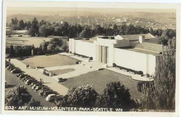 RPPC Art Museum in Volunteer Park Seattle Washington WA