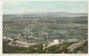 MT. LOWE, California, 1900-1910s; Pasadena from Echo Mt.