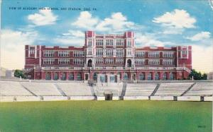View Of Academy High School And Stadium Erie Pennsylvania