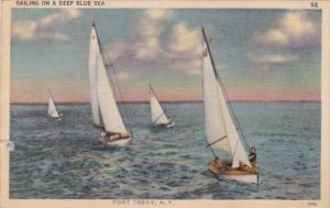 Sailing On A Deep Blue Sea Fort Terry New York 1942