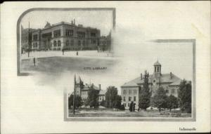 Indianapolis IN Library & Butler College c1905 UDB Postcard