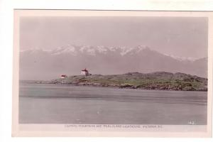 Real Photo, Olympic Mountain,Trail Island Lighthouse, Victoria, British Columbia