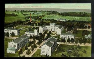 University of Wooster Ohio birdseye view used c1909