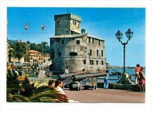 Rapallo ,Genoa, in Liguria, northern Italy. Cannon on Seaside Promenade, 50-60s