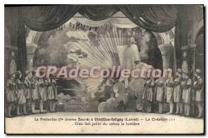 Old Postcard Chatillon Coligny The Creation God Made Spouting chaos the light...