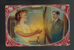 1909 Postcard Cover Halloween Mirror Reflection Counterfeit of Me