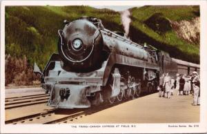 Trans-Canada Express Train Field BC Rockies Series 212 Unused RPPC Postcard E36