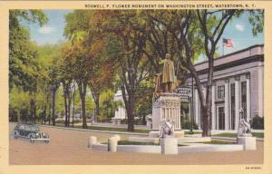 Flower Monument - Jefferson County Bank - Watertown, New York Linen