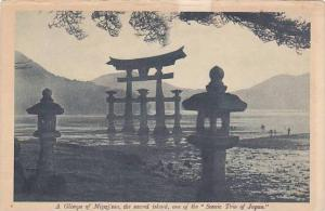 A Glimpse of Miyajima, the secred island, one of the Scenic Trio of Japan, ...