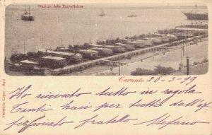 Italy Taranto Città Stazione Torpediniere 1899 03.06