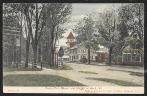 South Park Street Woodstock Vermont Used c1909