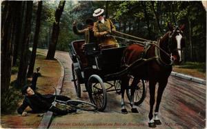 CPA PARIS 16e-Les Femmes Cocher-Un accident au Bois de Boulogne (325691)