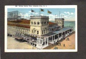 NJ Million Dollar Pier Beach Boardwalk Atlantic City New Jersey Postcard