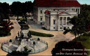 Virginia Richmond Washington Equestrian Statue and State Capitol