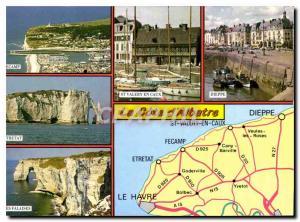 Postcard Modern French Normandy Seine Maritime Alabaster
