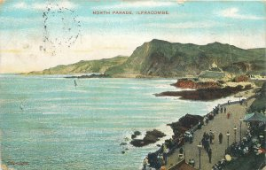 UK Ilfracombe Postcard North Parade promenade