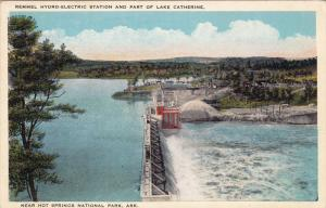 Remmel Hydro-Electric Station And Part Of Lake Catherine, HOT SPRINGS, Arkans...