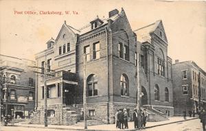 F16/ Clarksburg West Virginia Postcard c1910 Post Office Building