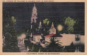 California San Diego Balboa Park Avenue Of Palaces 1943