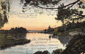 1905 Australia, Princes Bridge, Geellng, Old Postcard, Postally used, Australia