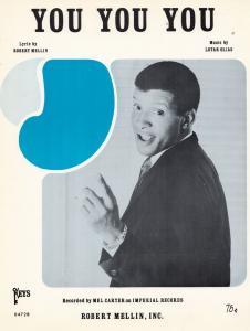 You You You Mel Carter 1960s Sheet Music