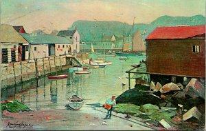 Rockport MA The Neck Beafrskin Neck Postcard used (24356)