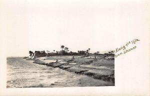 Along The Nile From Steamer Egypt Real Photo RPPC Postcard