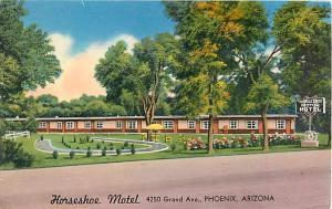 Horseshoe Motel 4250 Grand Ave. Phoenix Arizona AZ Postcard
