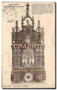 Old Postcard Astronomical Clock Besancon
