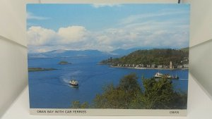 Vintage Postcard Oban Bay with Car Ferries