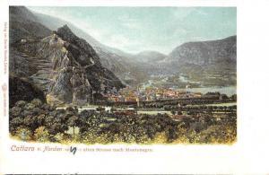 Cattaro Kotor Montenegro Birds Eye View Antique Postcard J74325