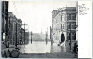 Wheeling, West Virginia Postcard 12th Street Scene, 1907 FLOOD Damage Unused