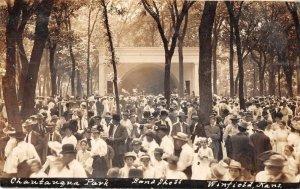 Winfield Kansas Chautauqua Park Bandstand Real Photo Postcard JI658534