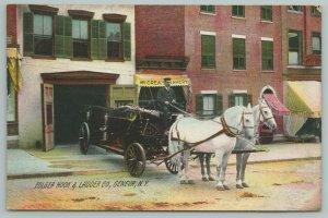 Geneva New York~Folger Hook & Ladder~Fire Department Wagon~McCrea's Bakery~1908