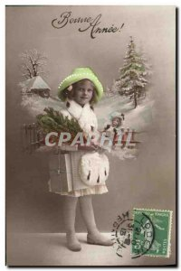 Old Postcard Fancy Doll Happy New Year