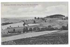 Bennington Battlefield NY Looking Westerly from Entrenchments Albertype Postcard