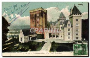 Old Postcard Pau Henri IV castle Main facade