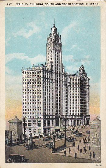Wrigley Building South and North Section Chicago Illinois 1925