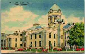 Dothan, Alabama Postcard HOUSTON COUNTY COURT HOUSE Building View Linen c1940s